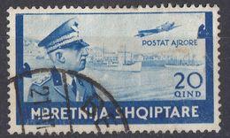ALBANIA - 1940 - Posta Aerea Yvert 39, Usato. - Albania