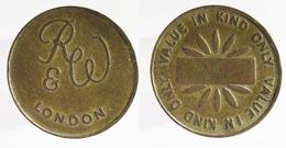 00446 GETTONE JETON TOKEN VENDING MACHINE RUFFLER & WALKER VALUE IN KIND ONLY - United Kingdom