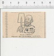 Presse 1951 Gravure Petit Format Saint-Fiacre Patron Des Jardiniers Bêche Outil / Religion Saints 51D9 - Vieux Papiers
