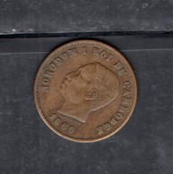 RedD - CAMBOGIA Re Norodom , 5 Cent Del 1860 - Cambodge