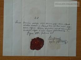 ZA176.7  Old Document Hungary Pest 1871 - Czutt István -Szanyó Éva (Ráckeve) - Póór József Ref. Lelkész - Wedding