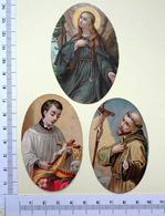 3 CHROMOS .DECOUPIS.......SUJET RELIGIEUX...MEDAILLONS - Découpis