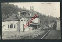 TROOZ. (Liège) Gare, Station, Chemin De Fer. Petite Animation. Voyagée En 1909. 2 Scans. - Trooz