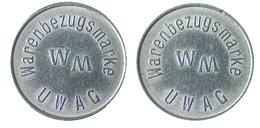 02301 GETTONE JETON TOKEN VENDING MACHINE UWAG WARENBEZUGSMARKE - Allemagne