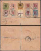 DAHOMEY Yv33/42 SUR LETTRE RECOMMANDE DE PORTO-NOVO 22/04/1913 (6G18463) DC-MV547 - Lettres & Documents