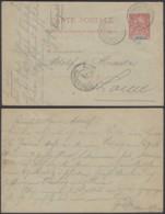 DAHOMEY EP 10c DE GRAND POPO 31/06/1906 VERS FRANCE  (6G18463) DC-MV551 - Lettres & Documents