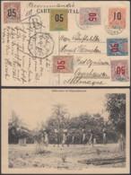 """DAHOMEY CP AFFRAC EN RECOMMANDE DE COTONOU """"PORTEURS EN ROUTE"""" (6G18463) DC-MV554 - Lettres & Documents"""