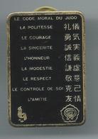 Pin's FFJ Fédération Française De Judo Le Code Moral - Judo