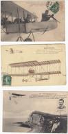 5 CPA Bleriot Biplan Farman (petite Déchirure Bas Droite  Capitaine Mailfert  Paulhan Latham - ....-1914: Précurseurs