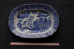 5/ Coupelle Ramequin   Wedgwood Cie England Chinese Au Chinois Décalcomanie XIXe Marquage En Creux 1860 ? 1900 ? Tnstall - Woods Ware