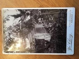 ASIE HANOI PHOTOGRAPHIE TOMBE MILITAIRE FORMAT CABINET TRES BON ETAT - Lieux