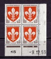 COIN DATE N° 1230 ( -9.12.59) NEUF** - Coins Datés