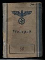 Militaria 2. Weltkrieg Wehrpass Eines Angehörigen Der Waffen SS - Dokumente