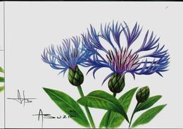 CM Du N° 3548 (Fleurs)  Bleuet  Carte Blanco  Resigné Par  Le Maître - 1985-.. Oiseaux (Buzin)