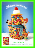 PUBLICITÉ - ADVERTISING - POST FRUITY PEBBLES - MAKE YOUR OWN SNOW DAY ! - HANNA BARBARA - - Publicité