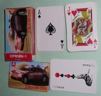 Rare Ancien Jeu De 54 Cartes En Boite, CITROEN ZX Rally Raid, Total Michelin, Joker As De Pique - 54 Cartes