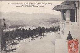 CPA Dept 66 FONT ROMEU Par Odeillo Le Grand Hotel Panorama Sur La Cerdagne Prise Du 4 Eme Etage - France