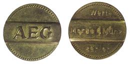 00959 GETTONE JETON TOKEN WASHING AEG WERTE MARKE MUNZ - Allemagne