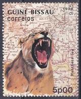 Guinea-Bissau 1988 Tiere Fauna Animals Raubkatzen Großkatzen Löwen Lions, Mi. 982 Gest. - Guinea-Bissau
