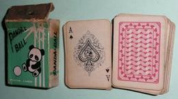 Rare Petit Jeu De 52 Cartes En Boite, PANDA & BALL, As De Pique - Cartes à Jouer