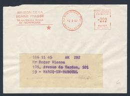 France Rep. Française 1969 Bande D'adresse / Adressstreifen - Maison De La Bonne Presse, Montrouge / Haus Guten Presse - Talen