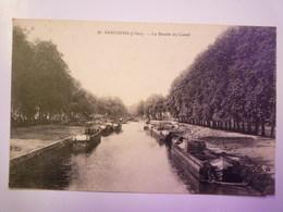 SANCOINS  (Cher)  :  Le Bassin Du  CANAL   1921   XXX - Sancoins