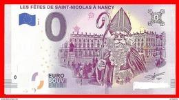 SAINT NICOLAS  BILLET 0€ SOUVENIR TOURISTIQUE,      Nancy 2018 - Essais Privés / Non-officiels