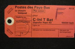 NL UN Bataillon UNPROFOR / FORPRONU In Bosnia/Croatia - NAPO 92 - Poststempels/ Marcofilie