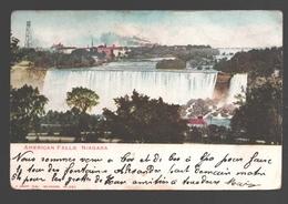 American Falls - Niagara - Single Back - 1905 - Sent From Belgium - NY - New York