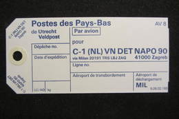 NL UN Bataillon UNPROFOR / FORPRONU In Bosnia/Croatia - NAPO 90 - Postal History