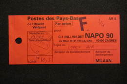 NL UN Bataillon UNPROFOR / FORPRONU In Bosnia/Croatia - NAPO 90 - Poststempels/ Marcofilie
