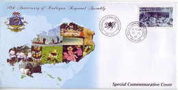 (Timbres). FDC. 10 Anniv Assemblee Regionale. 10 Th Anniversary Of Rodrigues Regional Assembly 13.10.2012 - Maurice (1968-...)