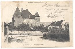 EXCURSION EN FRANCHE-COMTE -5. ARBOIS  - LE PRESBYTERE ( 1205 ) DOS NON DIV AFFR AU VERSO LE 4 AOUT 1904 . 2 SCANES - Arbois
