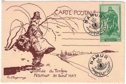Belgique: Namur Journée Du Timbre 31-08-1947 COB N° 737 - Cartes Souvenir