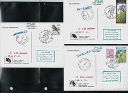 CM  Floralies Gantoises 1990  Des N° 2357/9 (Gent 03/03/90) + Obl Verso Obl Forest 07/03/90 - 1985-.. Pájaros (Buzin)