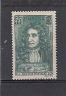 Jean De La Fontaine - 1938 - YT N°397** 55c Vert - Unused Stamps