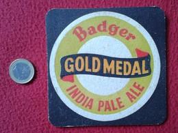 POSAVASOS COASTER MAT O SIMIL CERVEZA BEER BADGER GOLD MEDAL INDIA PALE ALE BEER PINT ? CERVEZAS CERVEJA ? BIER LA BIÈRE - Portavasos