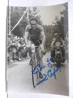 AUTOGRAPHE - DEDICACE - PHOTO SIGNEE - LOUIS CAPUT - CYCLISTE - TOUR 55 -  PHOTO L'EQUIPE - Autographes