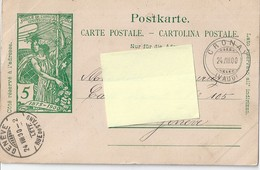 """CP """"jubilé De L'union Postale Universelle"""". Obl. CRONAY/GENEVE - VD Vaud"""