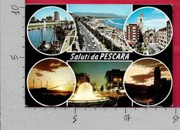 CARTOLINA VG ITALIA - Saluti Da PESCARA - Vedutine Multivue - 10 X 15 - ANN. 1974 - Saluti Da.../ Gruss Aus...