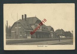 SOURBRODT. (Waimes - Weismes)  Gare. Station. Animée. Voyagée En 1925. Voir Dos.  2 Scans - Waimes - Weismes