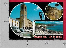 CARTOLINA VG ITALIA - Saluti Da FANO (PU) - Vedutine Multivue - 10 X 15 - ANN. 1976 - Saluti Da.../ Gruss Aus...