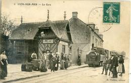 LION SUR MER  La Gare  Arrivée Du Train - France