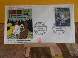 Bal Au Moulin Rouge Toulouse Lautrec - 81 Albi - 12.3.1965 FDC 1er Jour N°526 - Coté 10€ - FDC