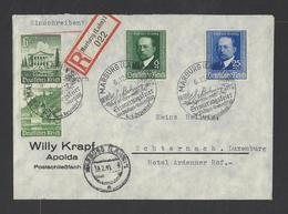 ALLEMAGNE  YT   N° 677-678 Et 684/685 Sur Lettre Recommandée  1940 - Germany