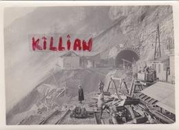 Rare Photo Originale Ligne De Frasne-vallorbe Souterain Du Mont D'or En 1913 Format 18x13 - Unclassified