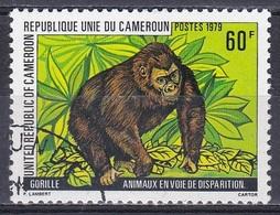 Kamerun Cameroon Cameroun 1979 Tiere Fauna Animals Primaten Affen Monkeys Gorilla, Mi. 906 Gest. - Kamerun (1960-...)