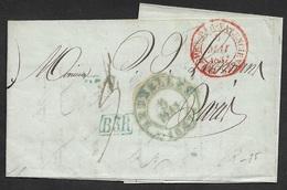 1837 LAC BRUXELLES 5 MAI Pour PARIS - 3 Rayon BR3 - C.à.d Entrée Belgique Par Valenciennes - 1830-1849 (Belgique Indépendante)