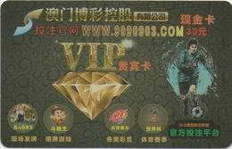 Carte Pré-Payée Casino En Ligne On-line : SJM Macau Macao 30 Patacas - Cartes De Casino