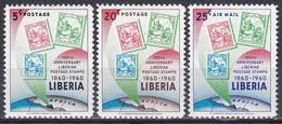 Liberia 1960 Postwesen Postgeschichte Geschichte History Briefmarken Stamps Philatelie Philately, Mi. 557-9 - Liberia